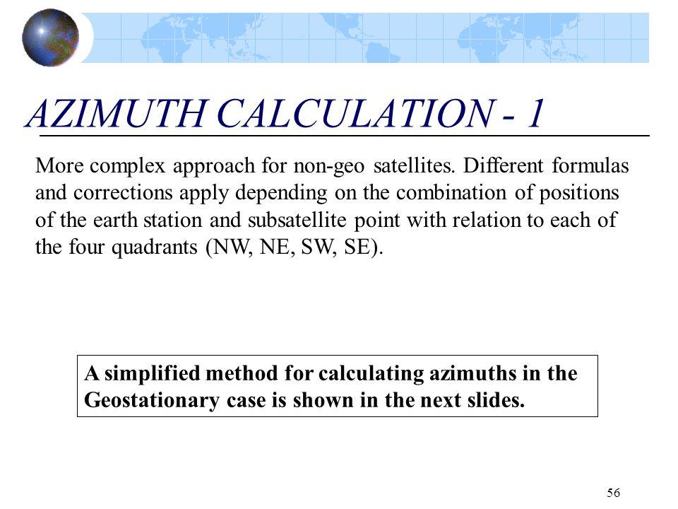 AZIMUTH CALCULATION - 1