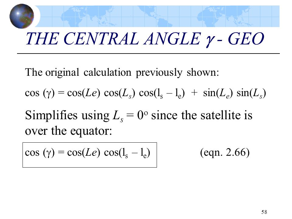 THE CENTRAL ANGLE  - GEO