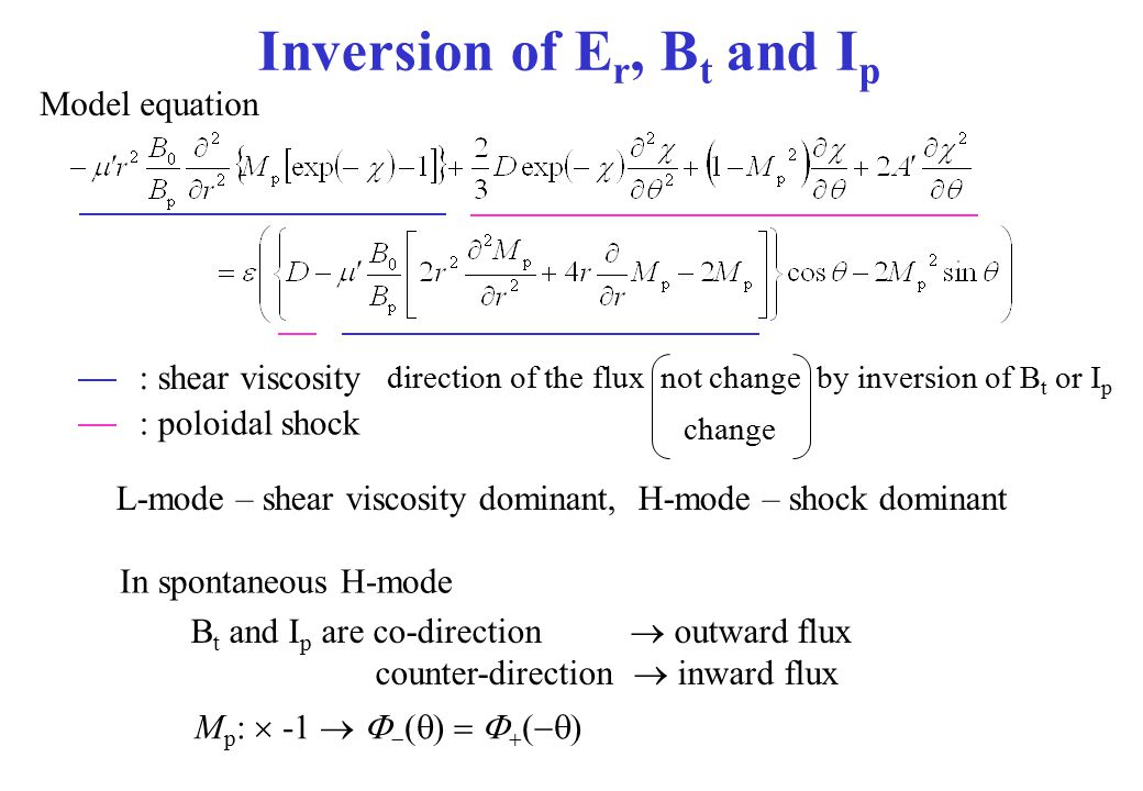 Inversion of Er, Bt and Ip