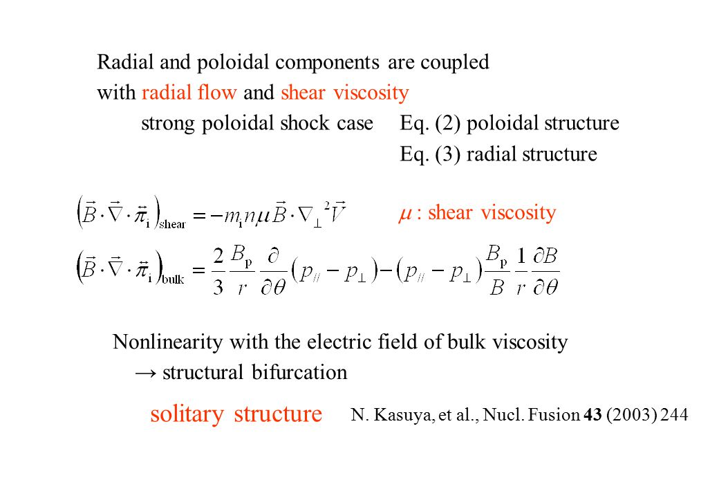 Basic Equations (3) solitary structure