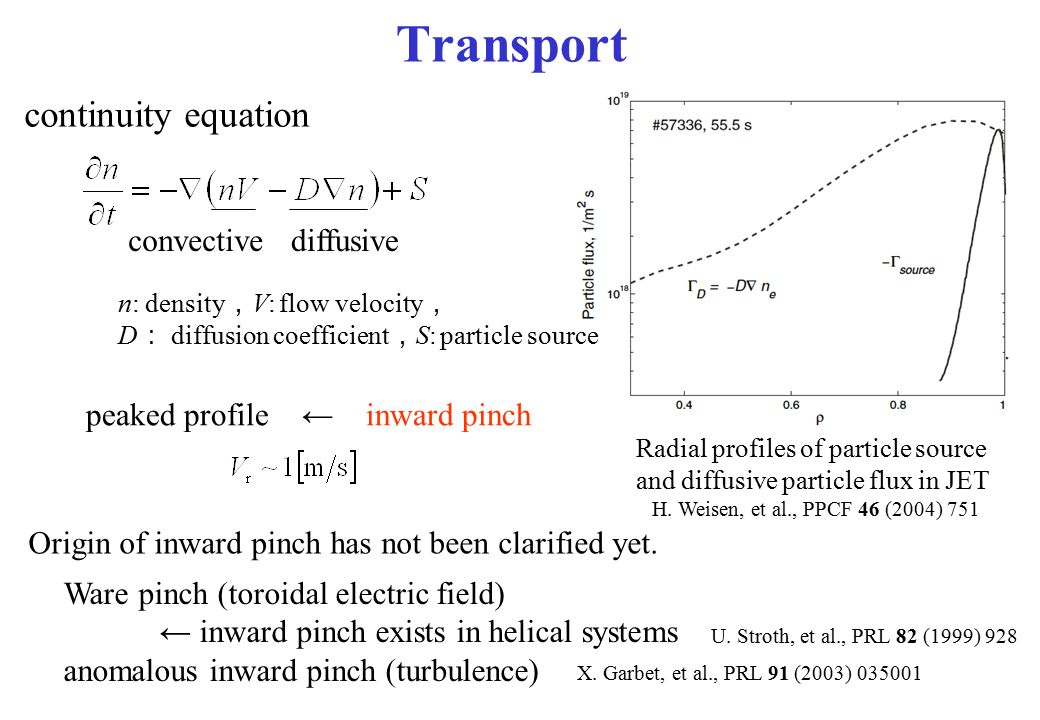 Transport continuity equation convective diffusive