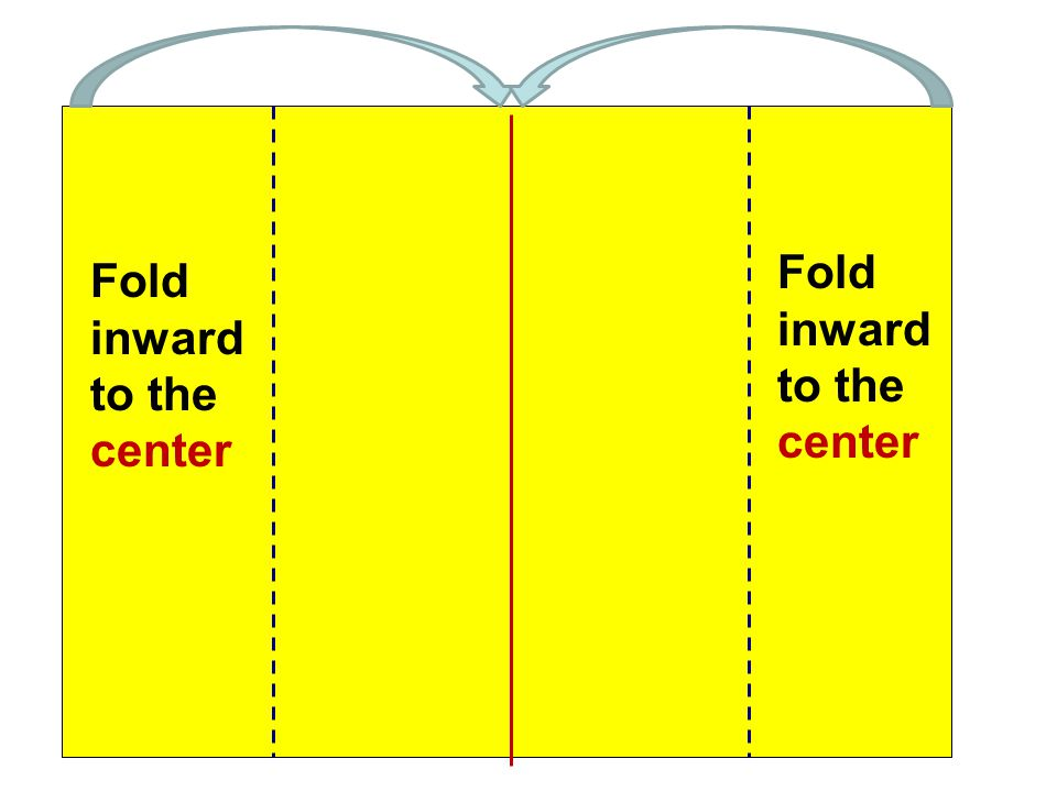 Fold inward to the center