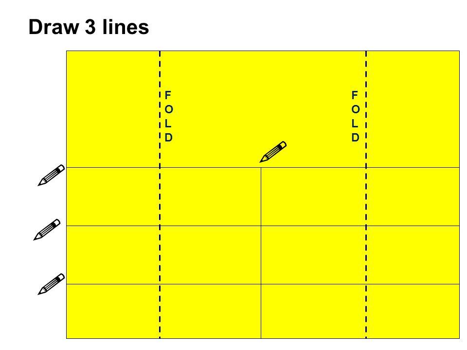 Draw 3 lines FOLD FOLD    