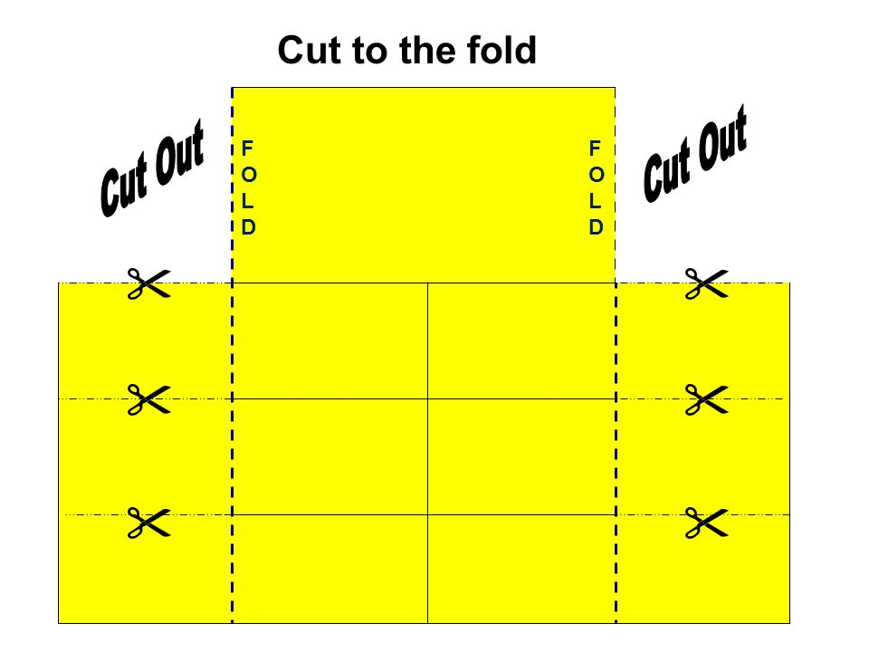 Cut to the fold Cut Out Cut Out FOLD FOLD      