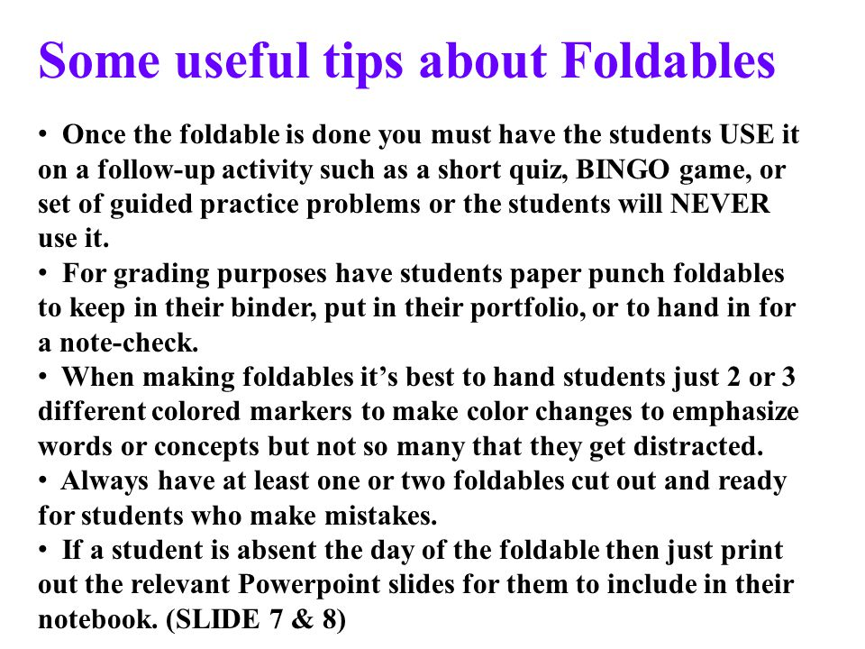 Some useful tips about Foldables