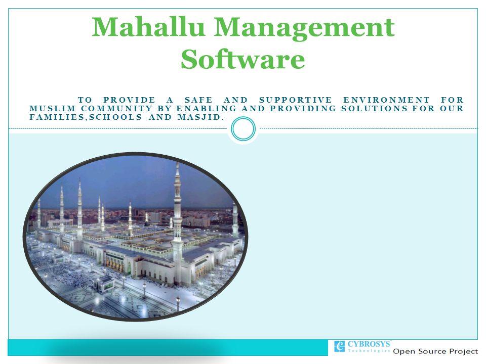 Mahallu Management Software