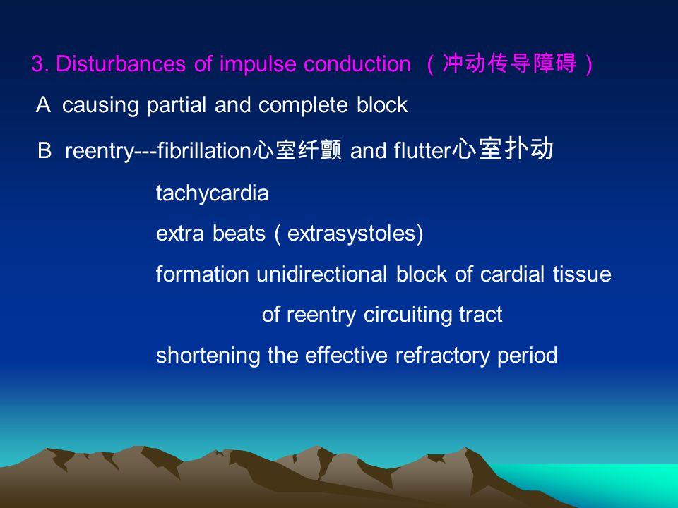 3. Disturbances of impulse conduction (冲动传导障碍)