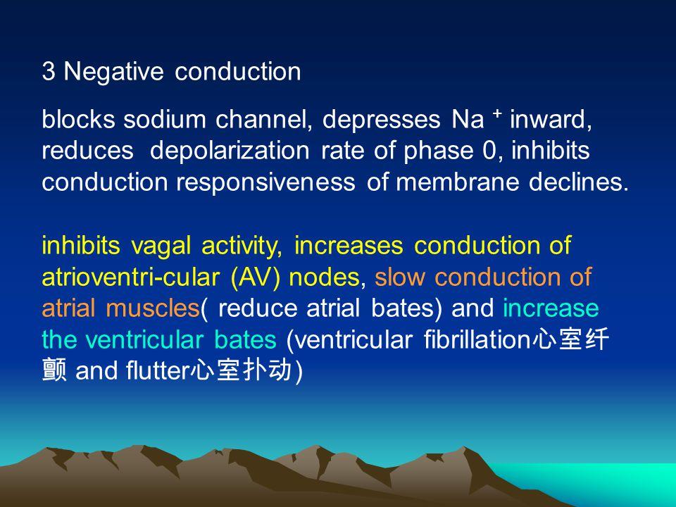3 Negative conduction