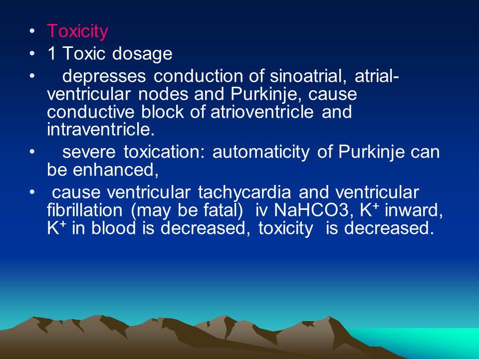 Toxicity 1 Toxic dosage.