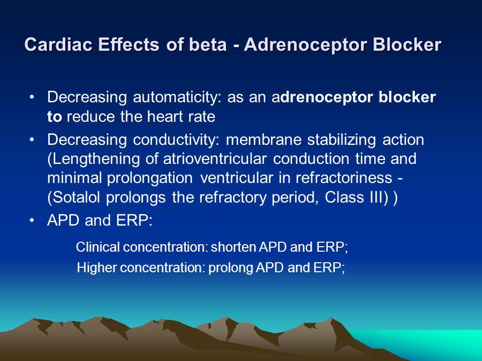 Cardiac Effects of beta - Adrenoceptor Blocker