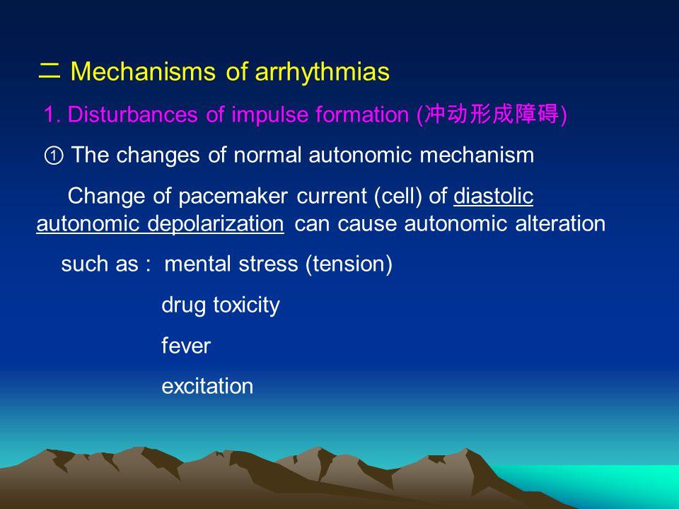 二 Mechanisms of arrhythmias