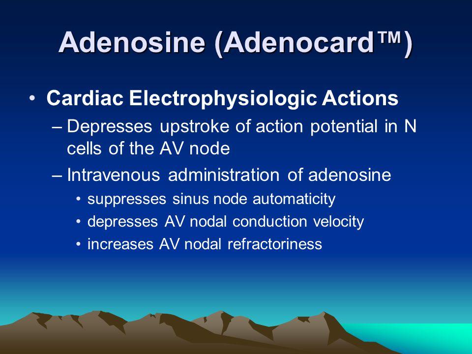 Adenosine (Adenocard™)