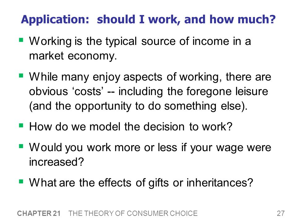 Application: Wages and Labor Supply