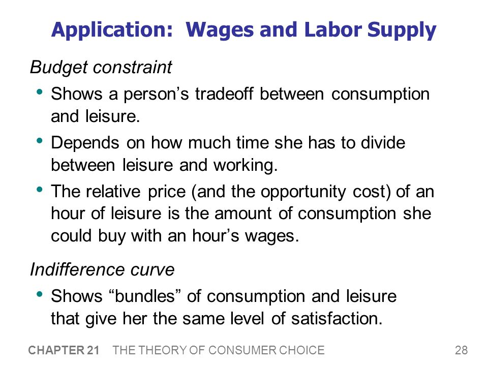 The Optimal Labor Supply Decision