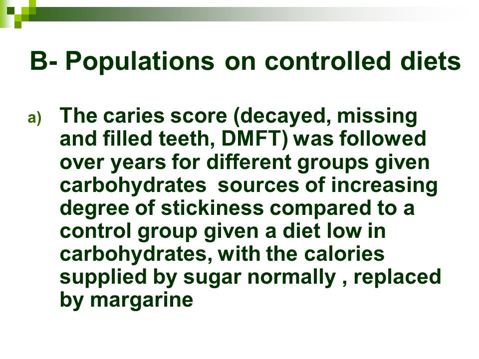 B- Populations on controlled diets