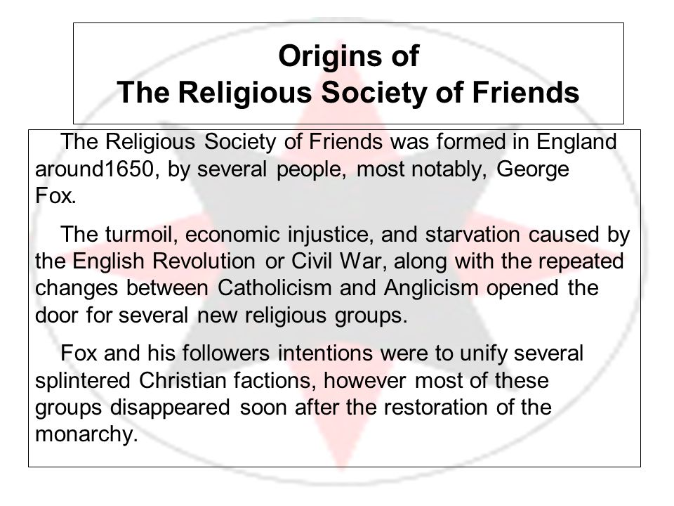 Origins of The Religious Society of Friends