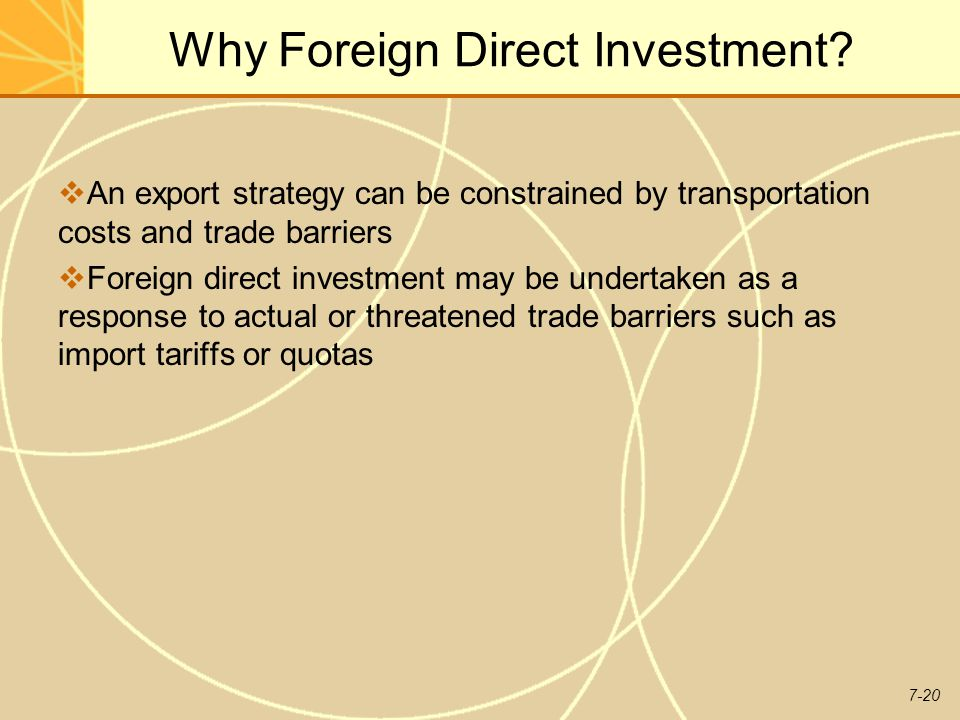 Why Foreign Direct Investment