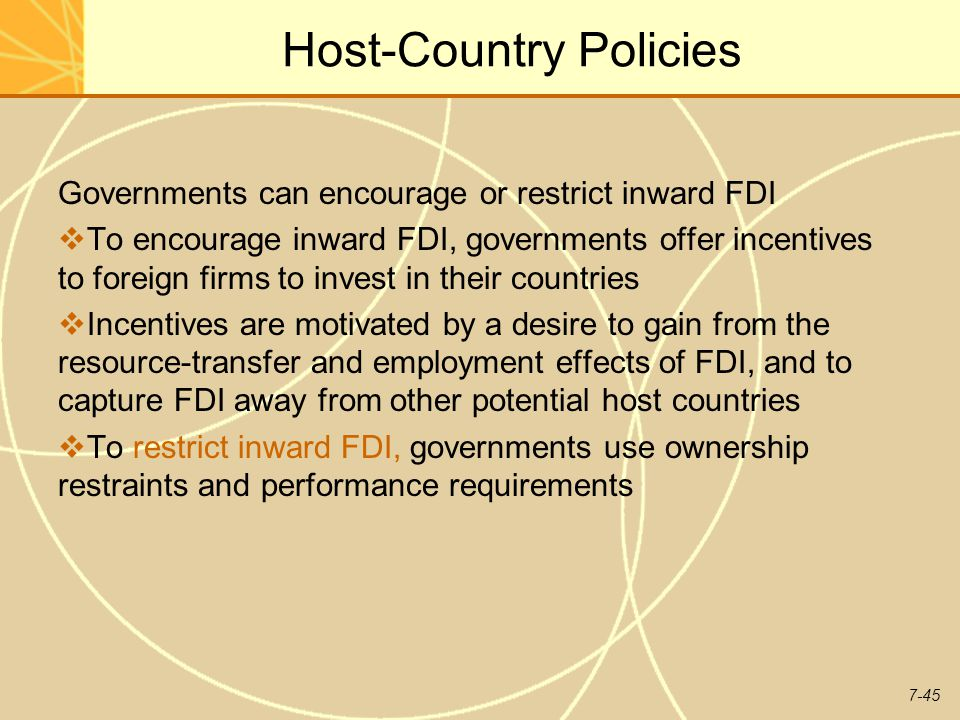 Host-Country Policies