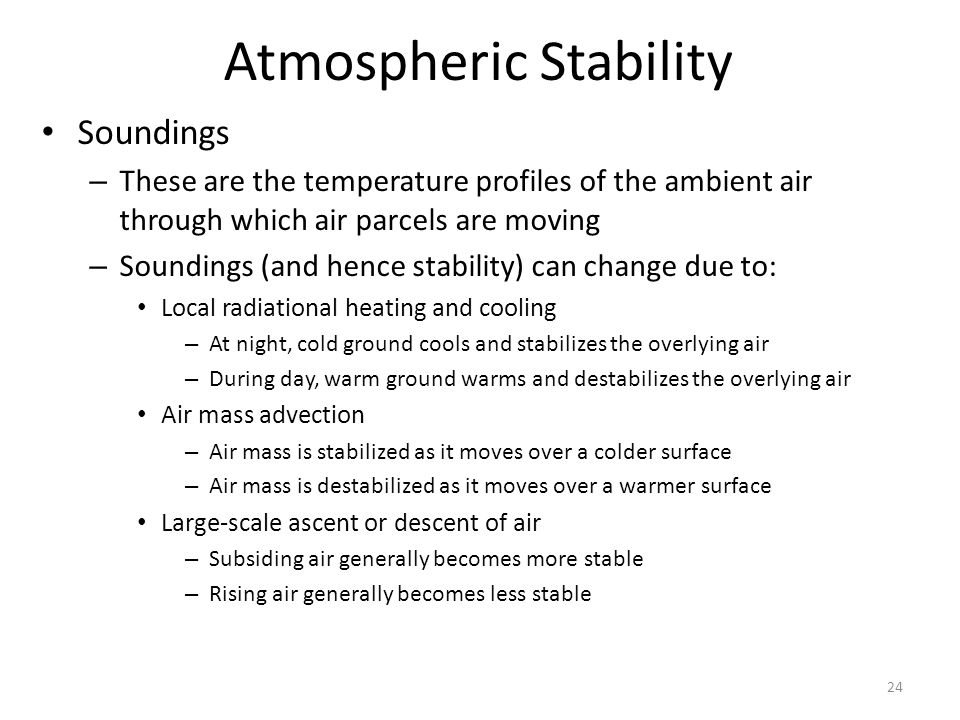 Atmospheric Stability