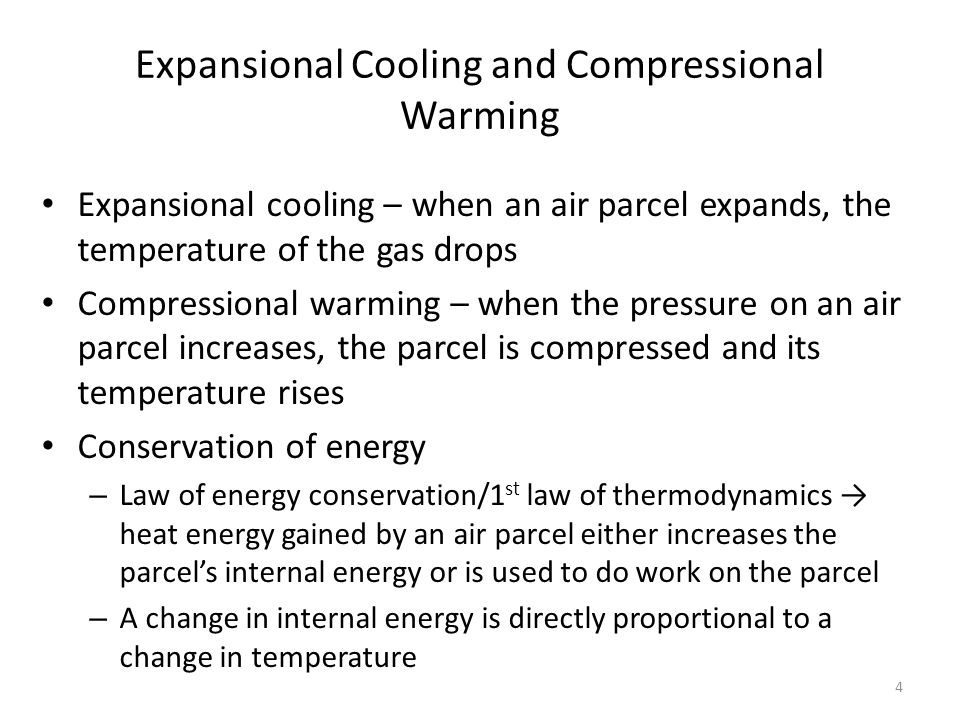 Expansional Cooling and Compressional Warming