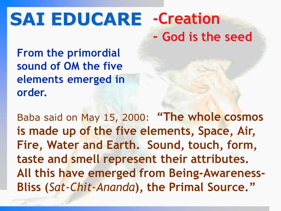 SAI EDUCARE -Creation - God is the seed