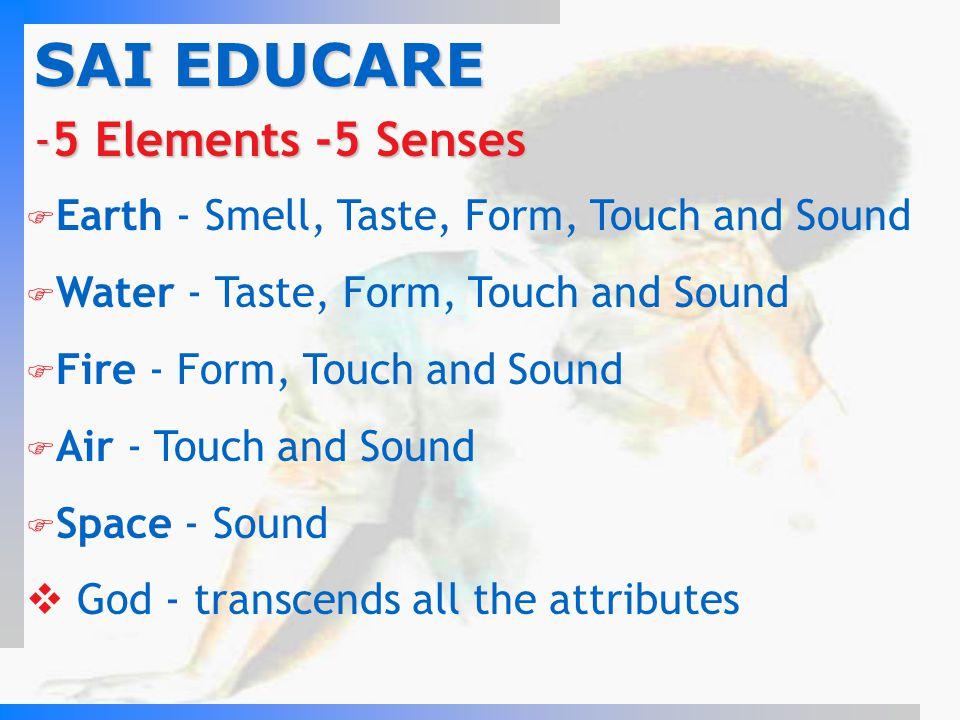 SAI EDUCARE 5 Elements -5 Senses