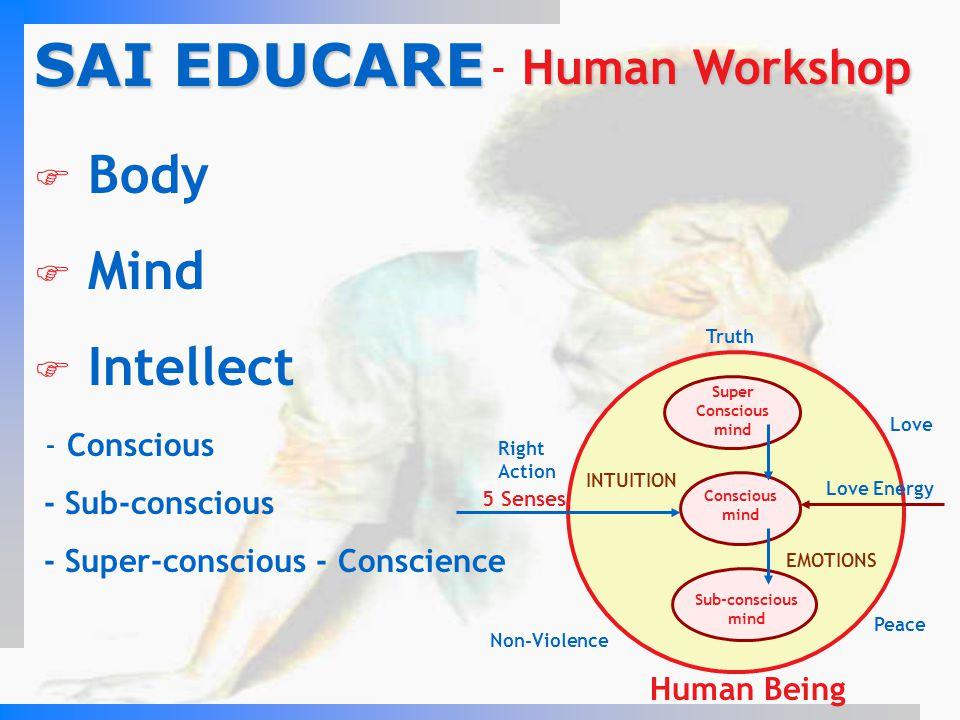 SAI EDUCARE Body Mind Intellect - Human Workshop - Conscious