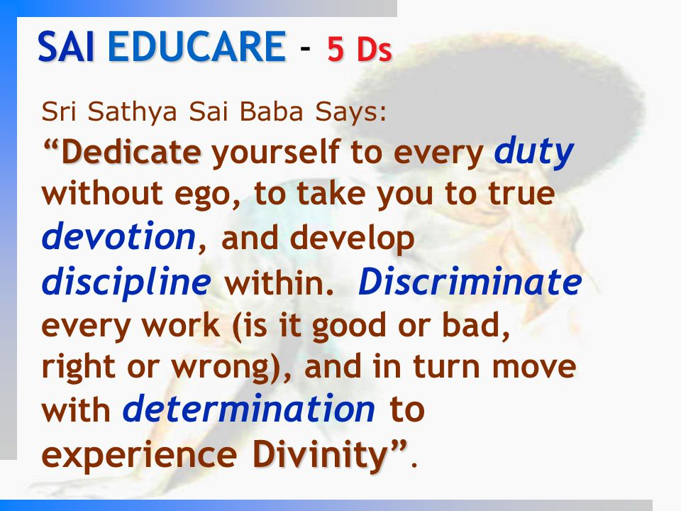 SAI EDUCARE - 5 Ds