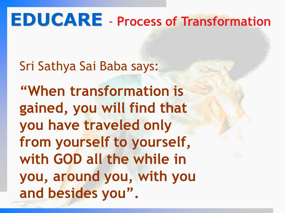 EDUCARE - Process of Transformation