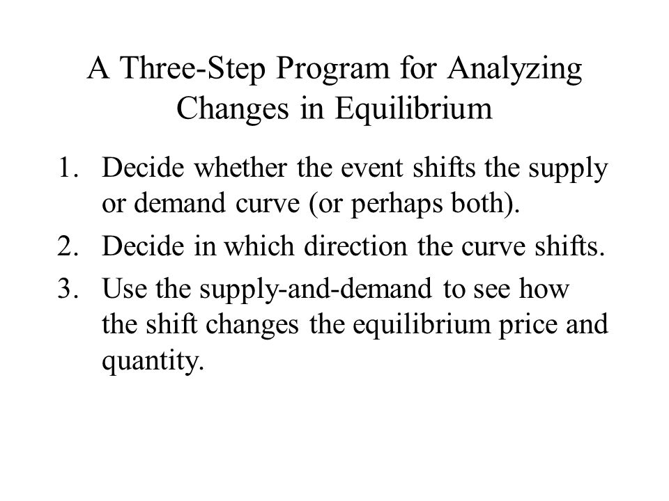 A Three-Step Program for Analyzing Changes in Equilibrium