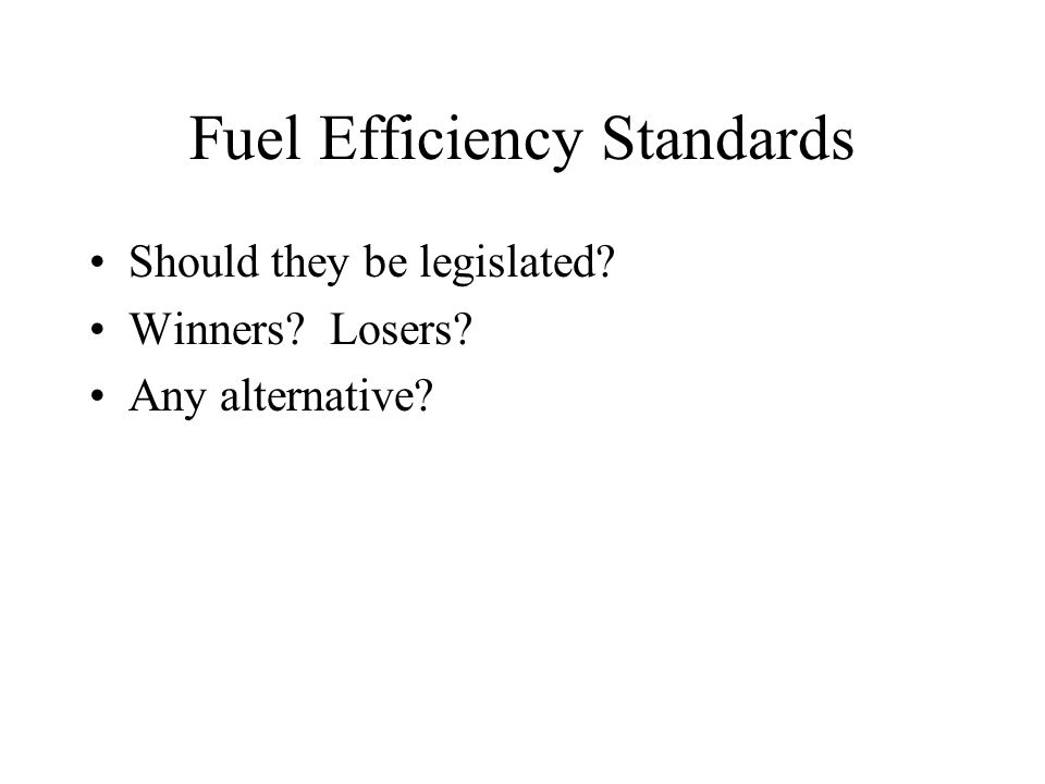 Fuel Efficiency Standards
