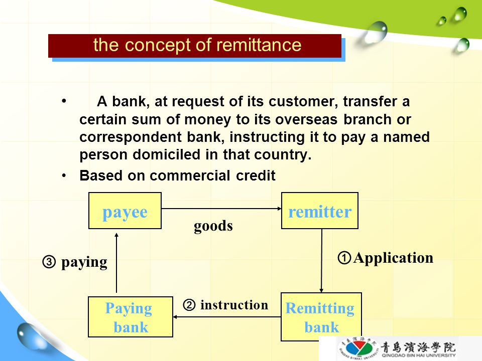 the concept of remittance