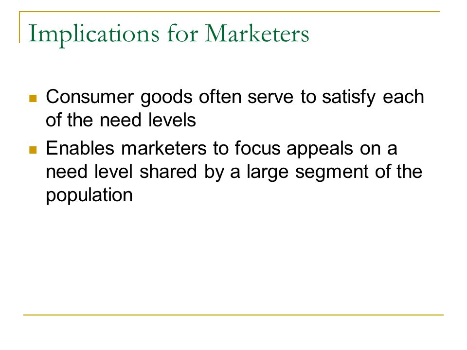 Implications for Marketers
