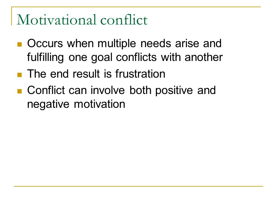Motivational conflict