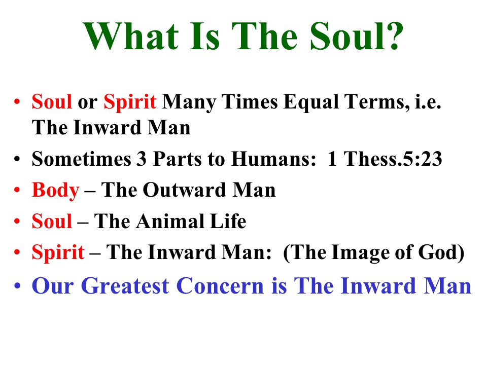 What Is The Soul Our Greatest Concern is The Inward Man