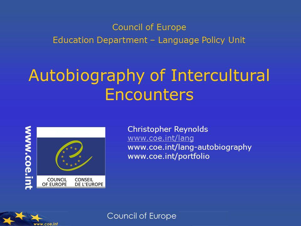 Autobiography of Intercultural Encounters