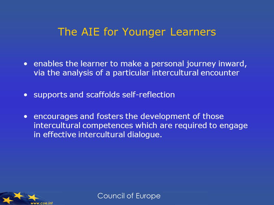 The AIE for Younger Learners