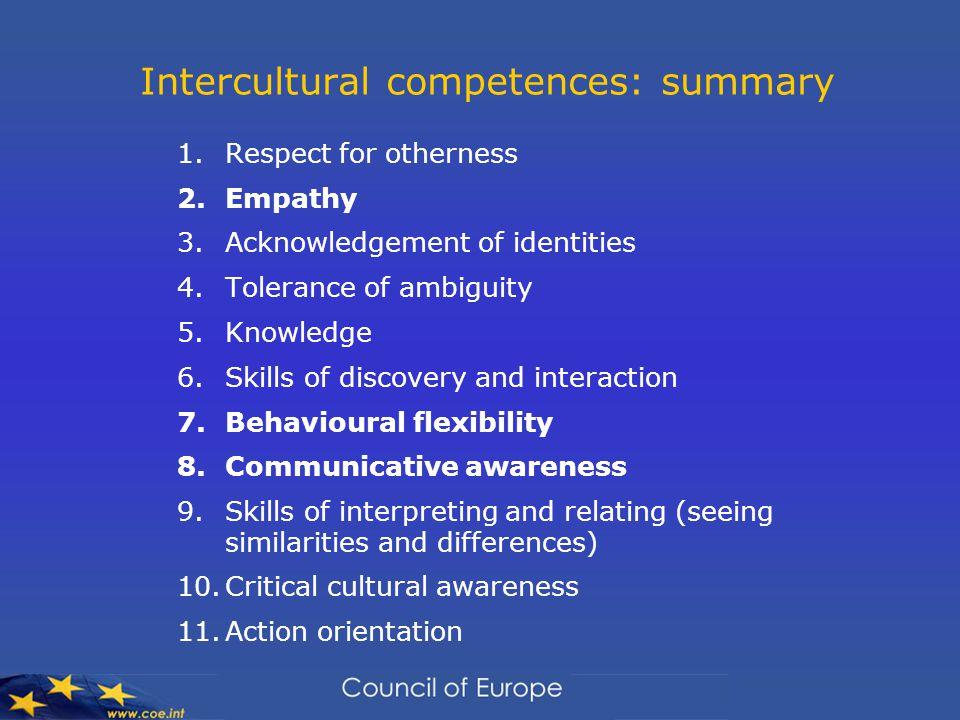 Intercultural competences: summary