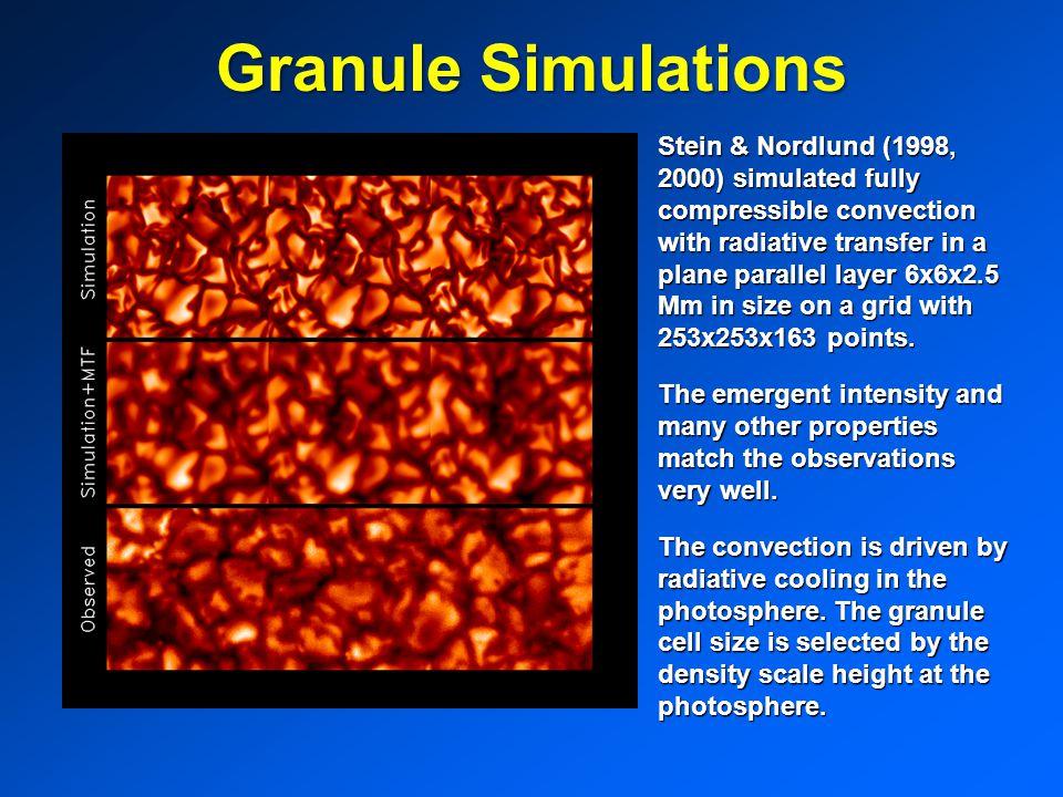 Granule Simulations