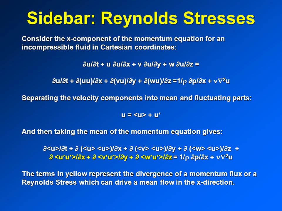 Sidebar: Reynolds Stresses