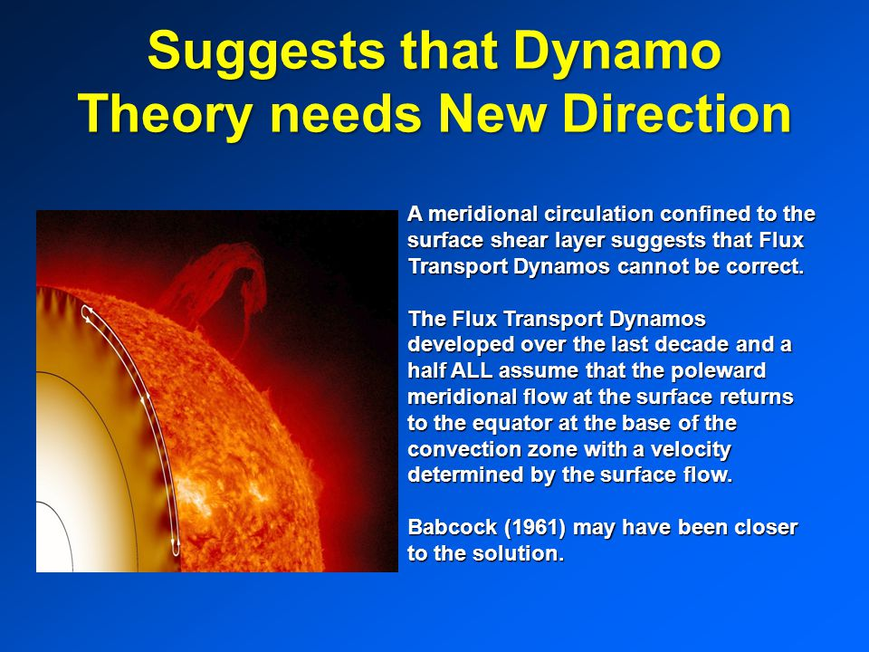 Suggests that Dynamo Theory needs New Direction