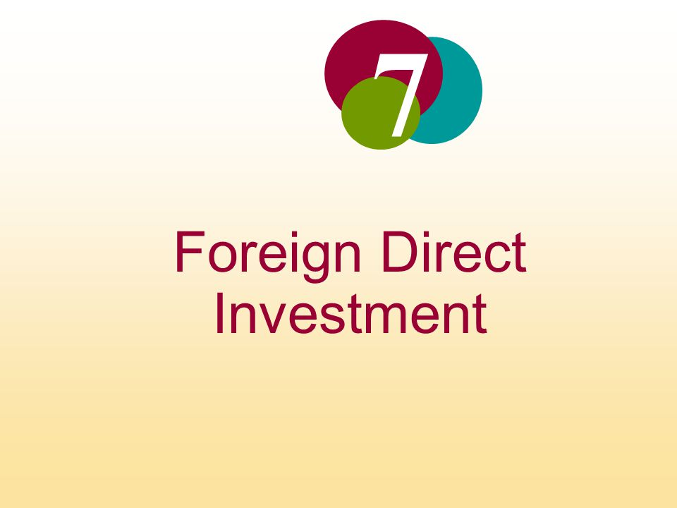 foriegn direct investment According to the world bank, fdi is critical in developing the private sector learn more about foreign direct investment and what it means to the us.