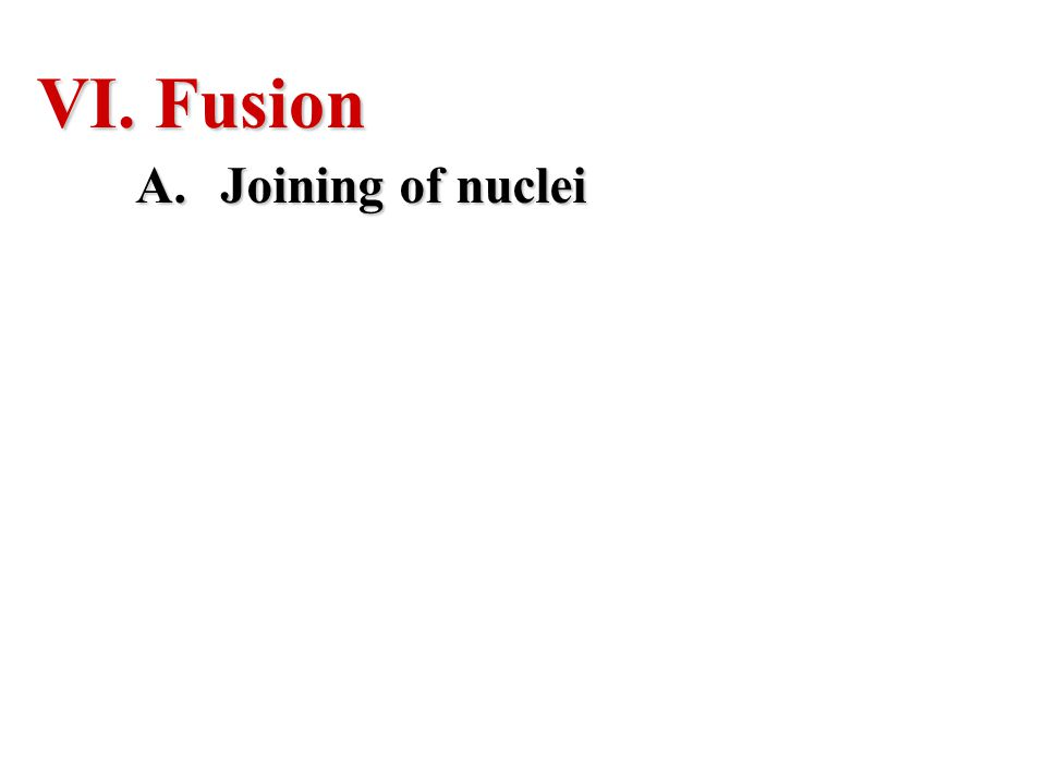 Fusion Joining of nuclei
