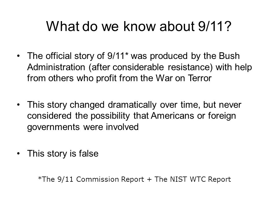 What do we know about 9/11
