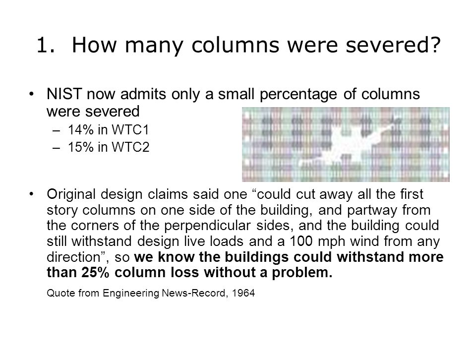 1. How many columns were severed