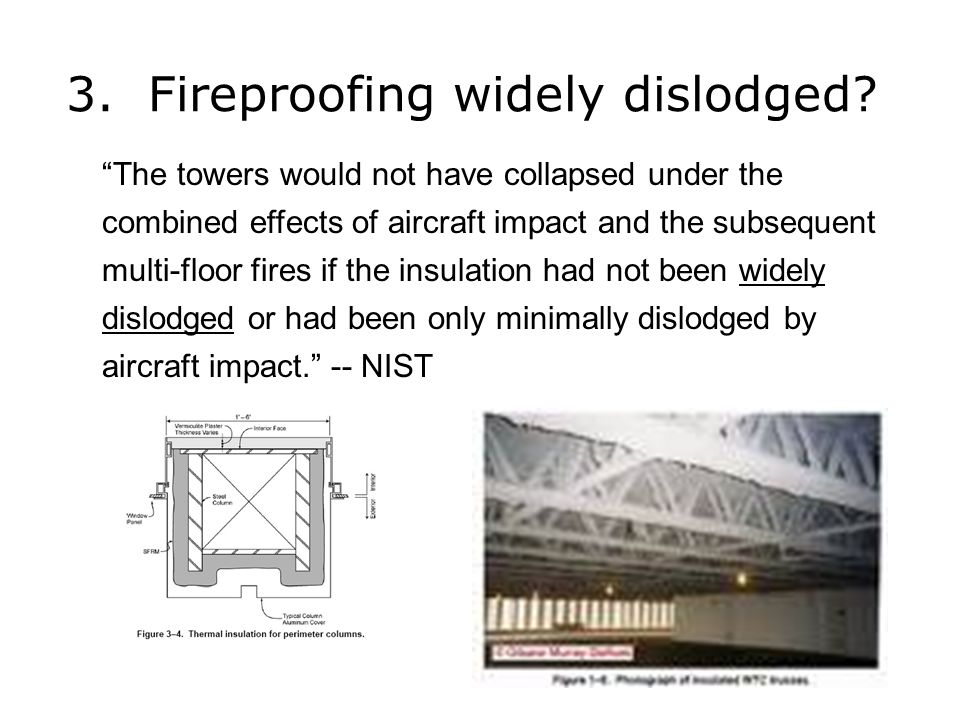 3. Fireproofing widely dislodged