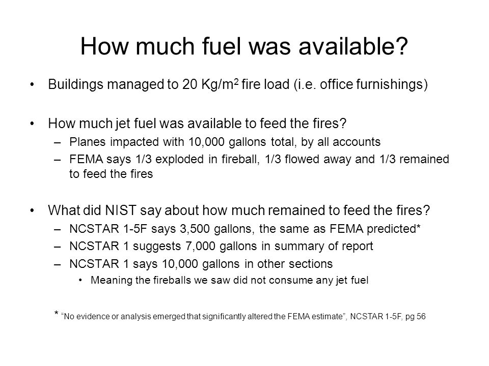 How much fuel was available