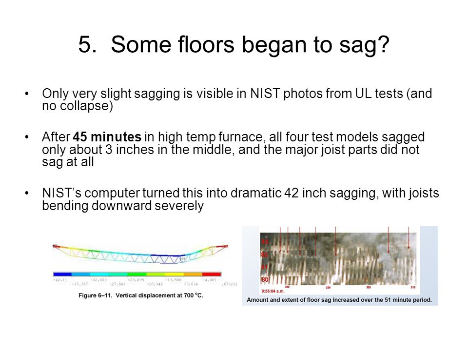 5. Some floors began to sag