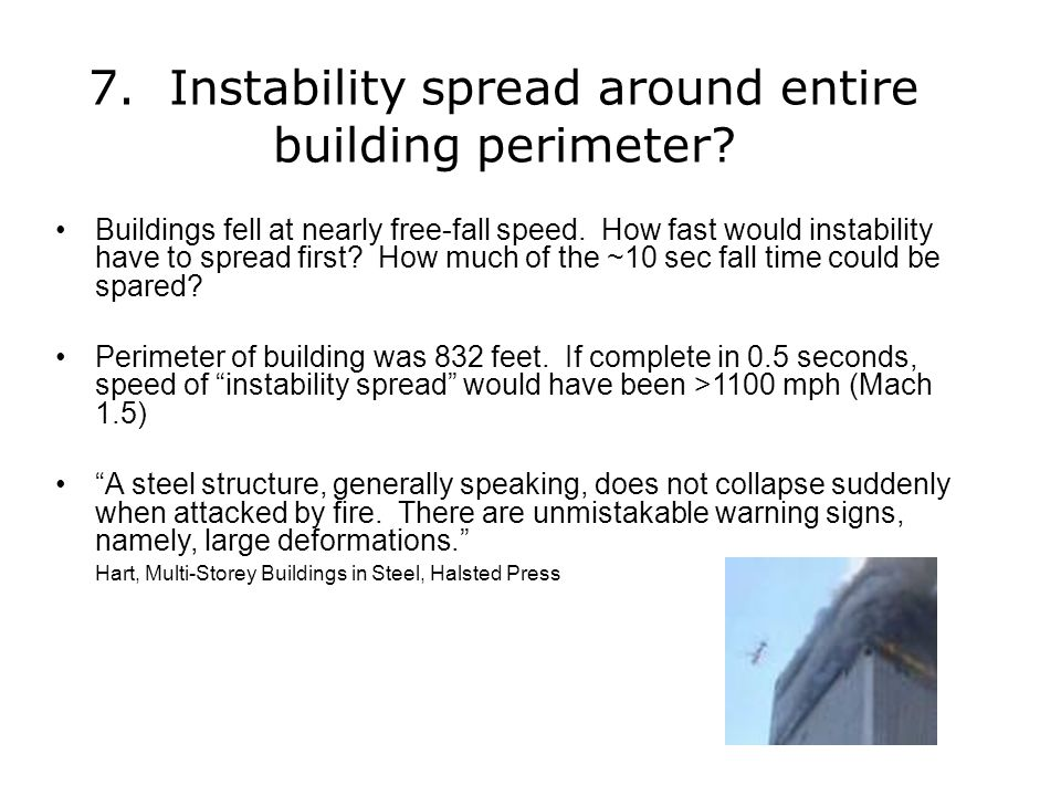 7. Instability spread around entire building perimeter