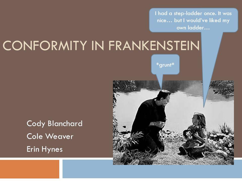 Conformity in Frankenstein